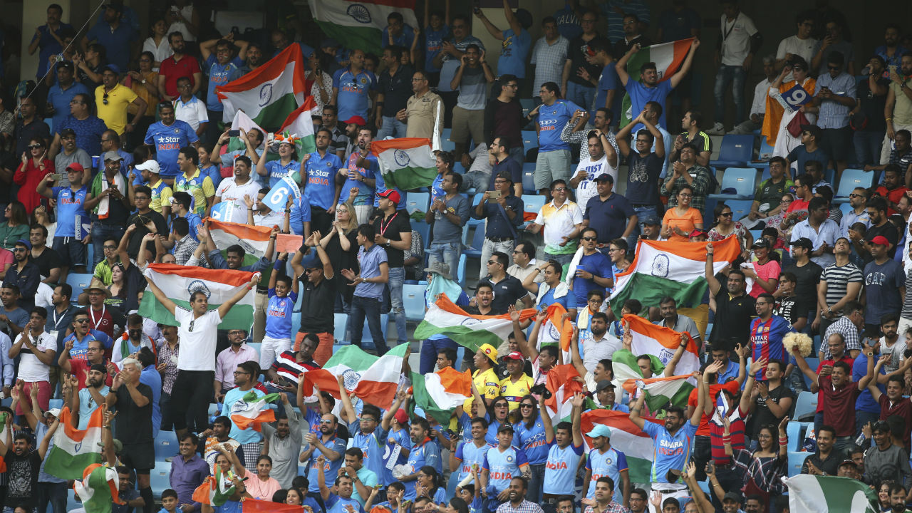 Dubai International Cricket Stadium reported a full house for the much anticipated encounter between the two Asian giants and the Men in Blue surely felt at home as they were were supported by a strong contingent of Indian supporters. (Image: AP)