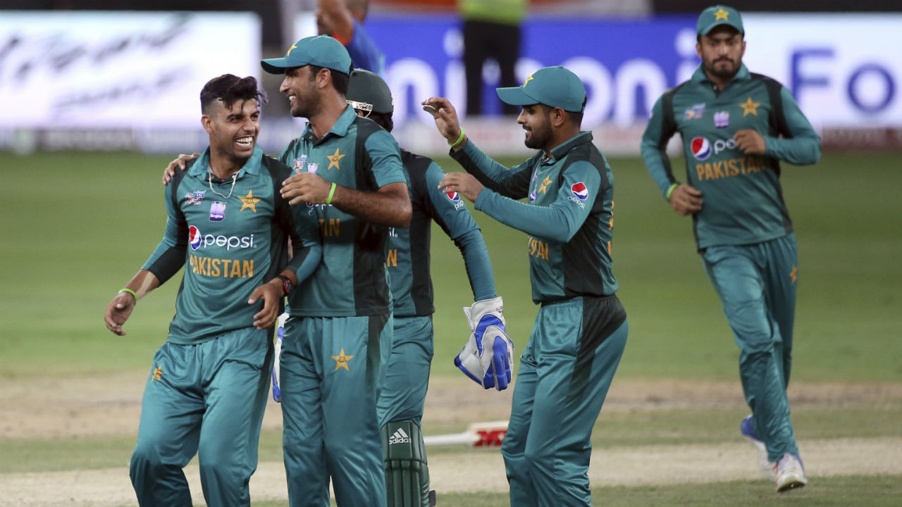 Pakistani spinner Shadab Khan then castled Sharma with a beautiful googly delivery. At the fall of Sharma's wicket India's scorecard read 86/1 in 13.1 overs. (Image: AP)
