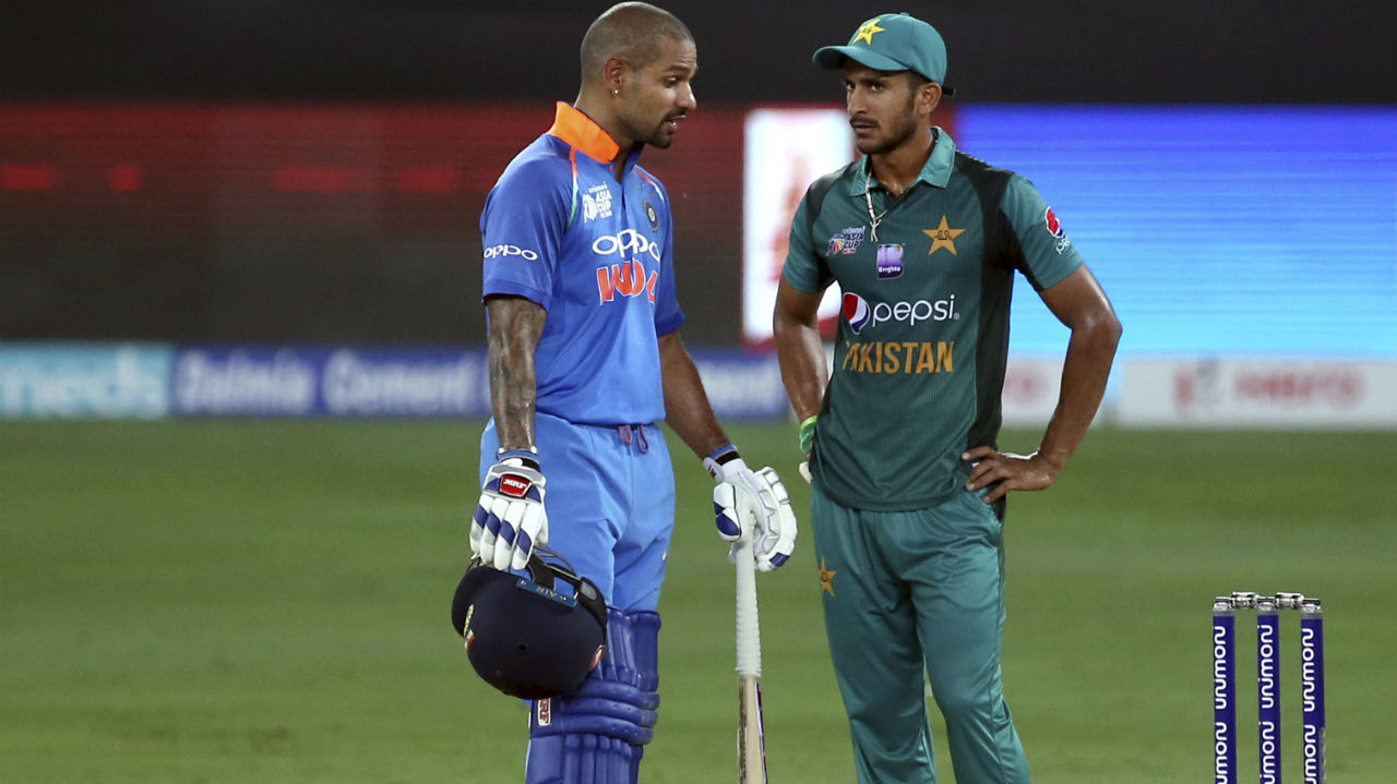 Shikhar Dhawan soon followed Rohit Sharma when he was dismissed by Faheem Ashraf. Centurion from last night, Dhawan missed his fifty by a mere four runs. The loss of the openers did not affect India much though as the damage was already done with India well placed at 104/2 in just 16.3 overs. (Image: AP)
