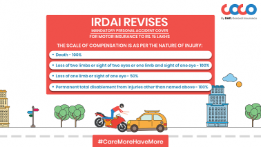 Insist on the 15L mandatory Personal Accident Cover with your Motor Insurance – COCO by DHFL GI
