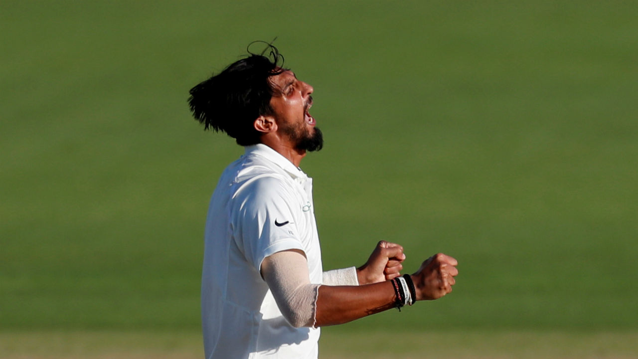 Ishant Sharma then struck with two wickets in the 83rd over as he first got Moeen Ali to edge one back to the keeper before getting Sam Curran out for a duck in similar fashion. The only difference being that Ali tried to play at the ball while Curran looked set to leave the ball before it kissed the outside edge of his bat. England were reeling at 181/7 at this stage. Jos Buttler and Adil Rashid managed to stem the wicket flow as England finished the day at 198/7. (Image – Reuters)