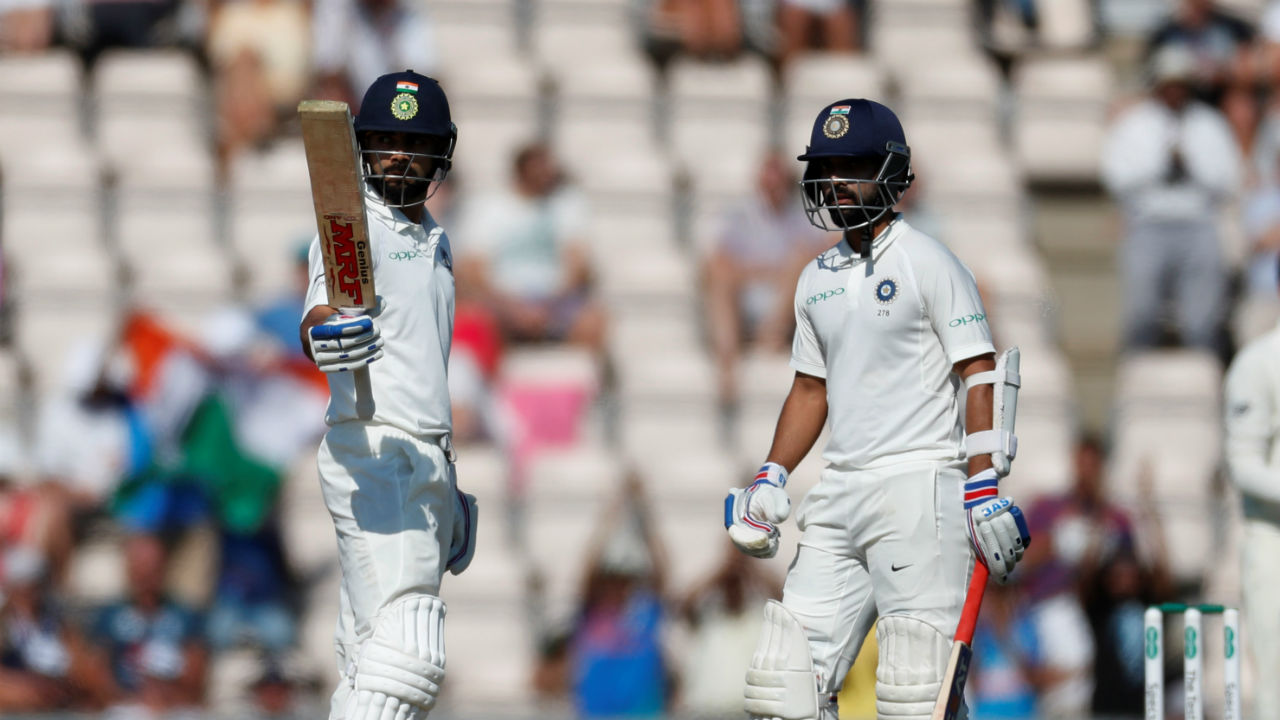 Quick wickets meant that Indian captain Virat Kohli and his deputy Ajinkya Rahane were in thick of the action sooner than expected. The duo stitched a 101-run partnership to steady the Indian run chase. In the process Kohli completed his 19th Test fifty. (Image - Reuters)