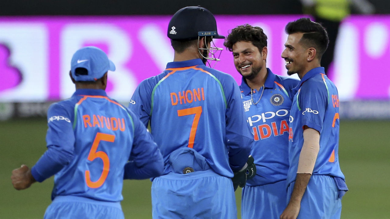 Kuldeep Yadav accounted for the seventh wicket of Hong Kong's innings when he got Scott McKechnie stumped in the 47th over. Khaleel Ahmed then picked up his third wicket of the night when he scalped Ehsan Khan in the final over of the game. Hong Kong's innings ended at 259/8 in 50 overs giving India a hard fought victory by 26 runs. (Image: AP)