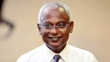 Maldivian president Ibrahim Mohamed Solih arrives for three-day visit