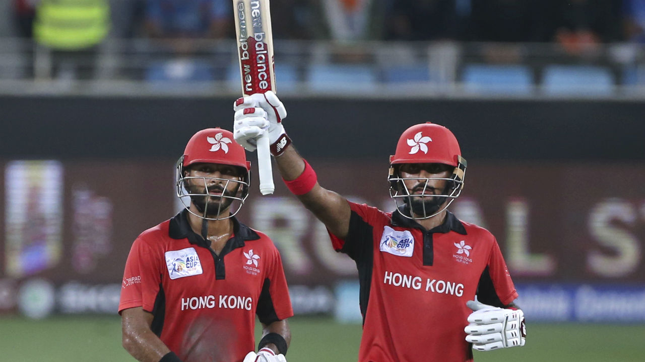 Hong Kong openers Anshuman Rath and Nizakat Khan began the chase on a positive note as they tore into the pacers, scoring 56 runs in the first 10 overs. Nizakat Khan completed only his third ODI fifty in the 12th over coming from 45 deliveries. (Image: AP)