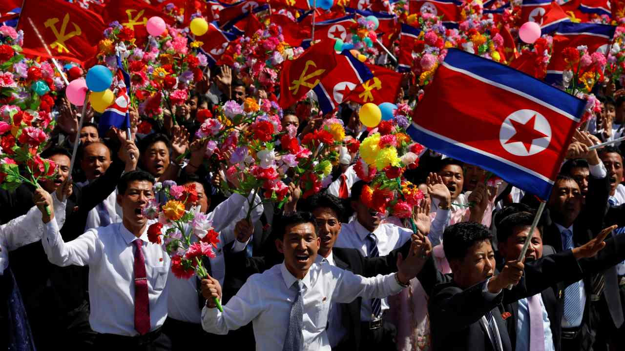 The head of North Korea's parliament, Kim Yong Nam, opened the speech which highlighted the country's economic goals and not their nuclear might. The tone of the event was set by the common people of the regime, ranging from civilian groups to nurses, construction workers and students. (Image: Reuters)