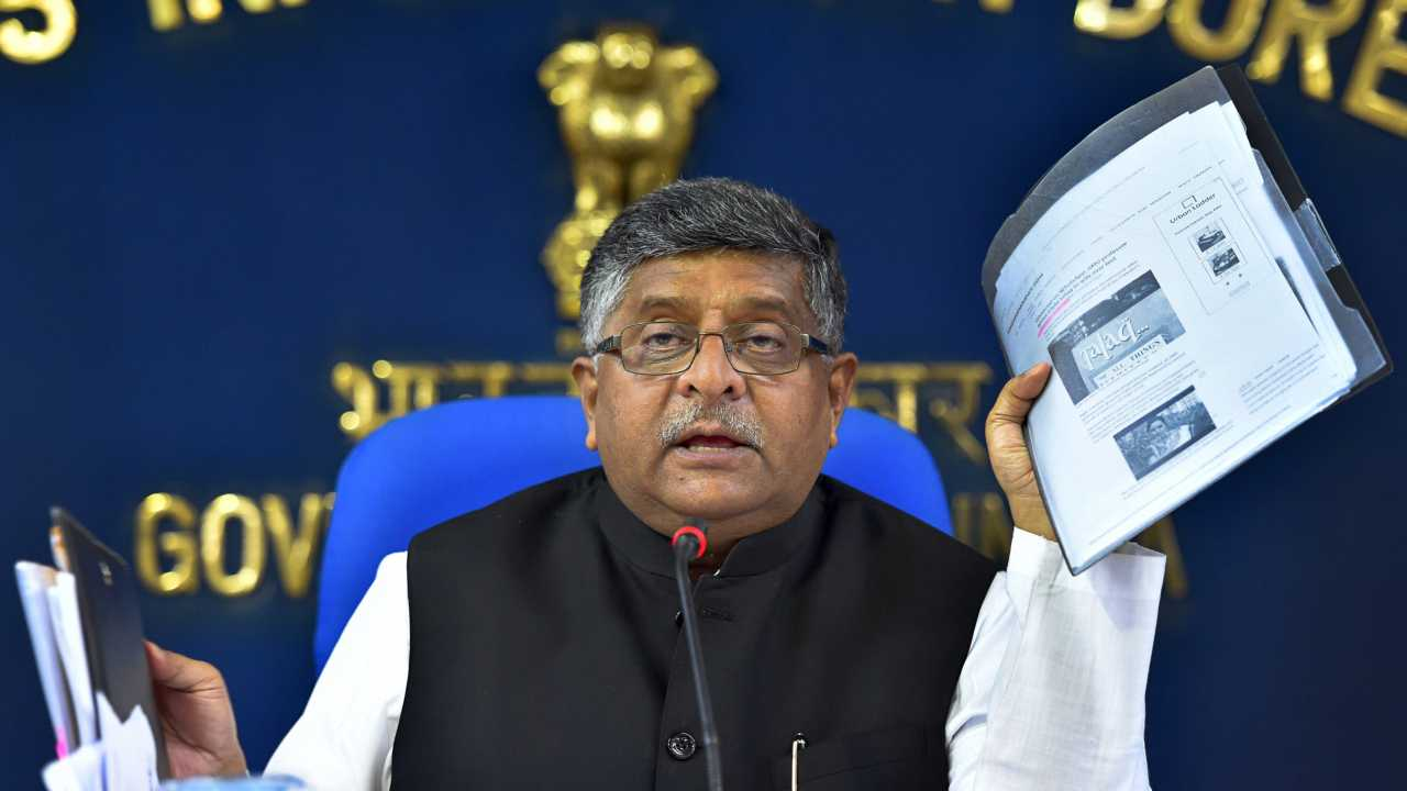 Union Law and Justice Minister Ravi Shankar Prasad briefs the press after the Cabinet meeting, in New Delhi. (PTI)
