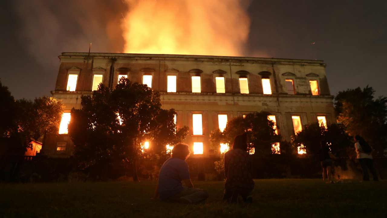 A major fire broke out at the National Museum of Brazil in Rio de Janeiro, Brazil on September 2. The 200-year-old institution is the oldest of its kind in the South American country. (Image: Reuters)