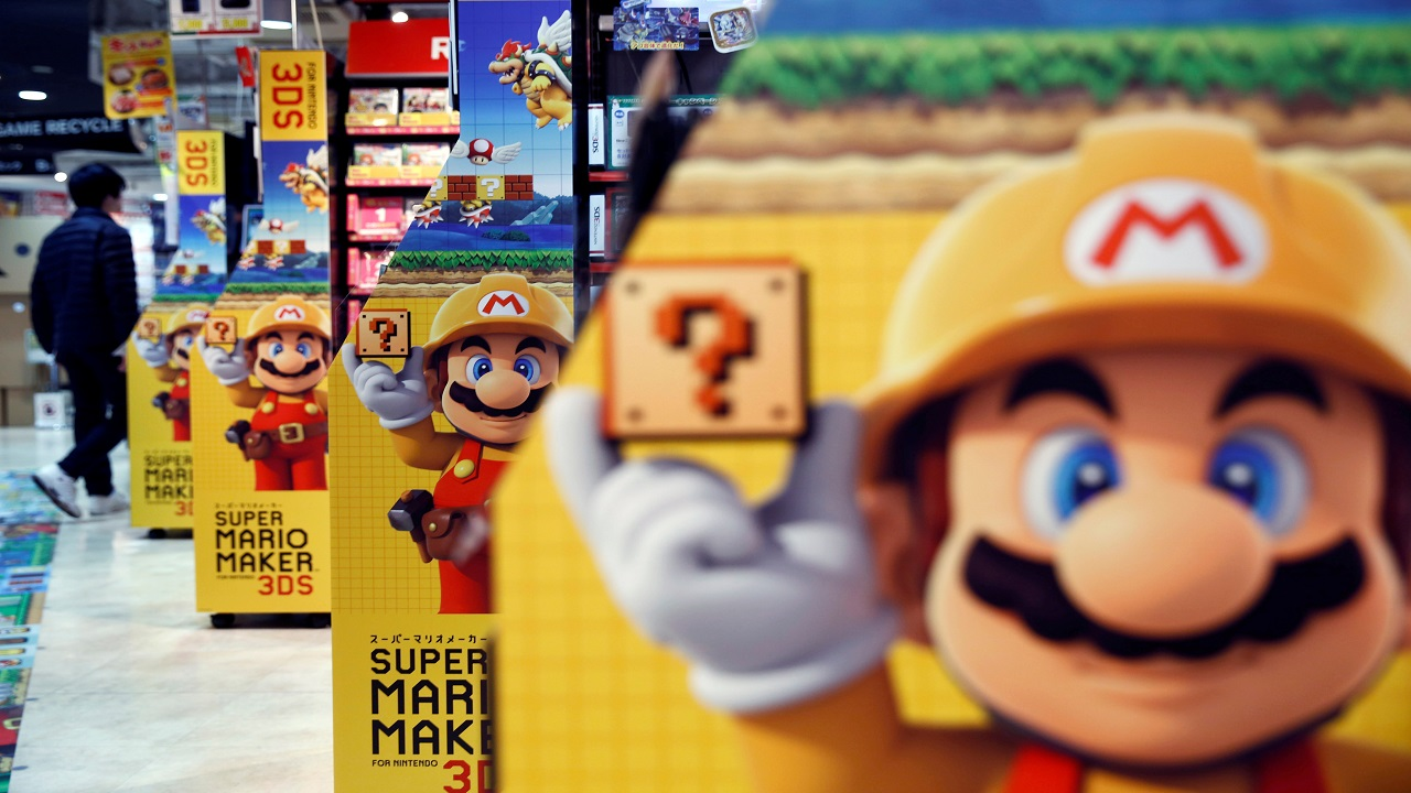 Q2. Mario, the popular video game character, is owned by which company? (Image: Reuters)