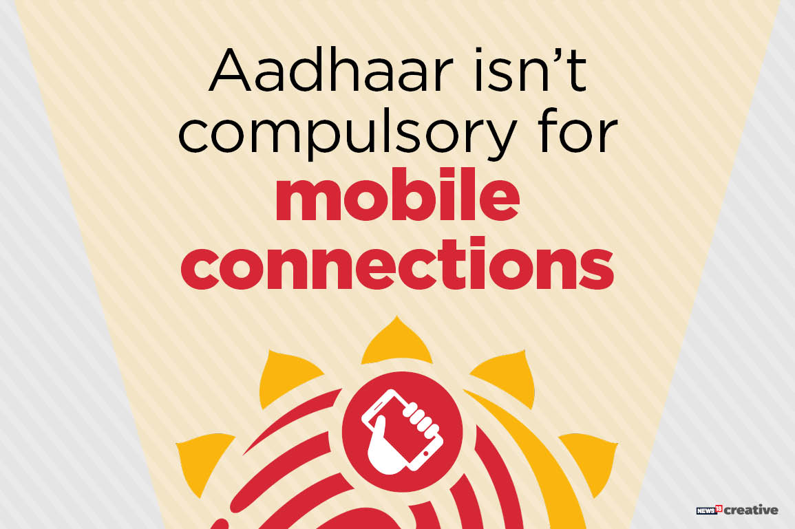 Obtaining a new mobile connection has been made easier. The submission of Aadhaar will not be required for getting a new SIM card. Previously, Aadhaar ID and thumb impression of new applicants was compulsory.