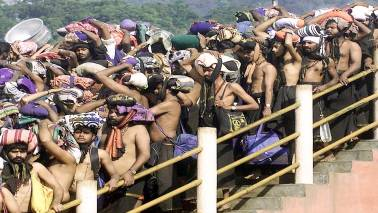 Congress, BJP flay Kerala government for bringing activists to Sabarimala