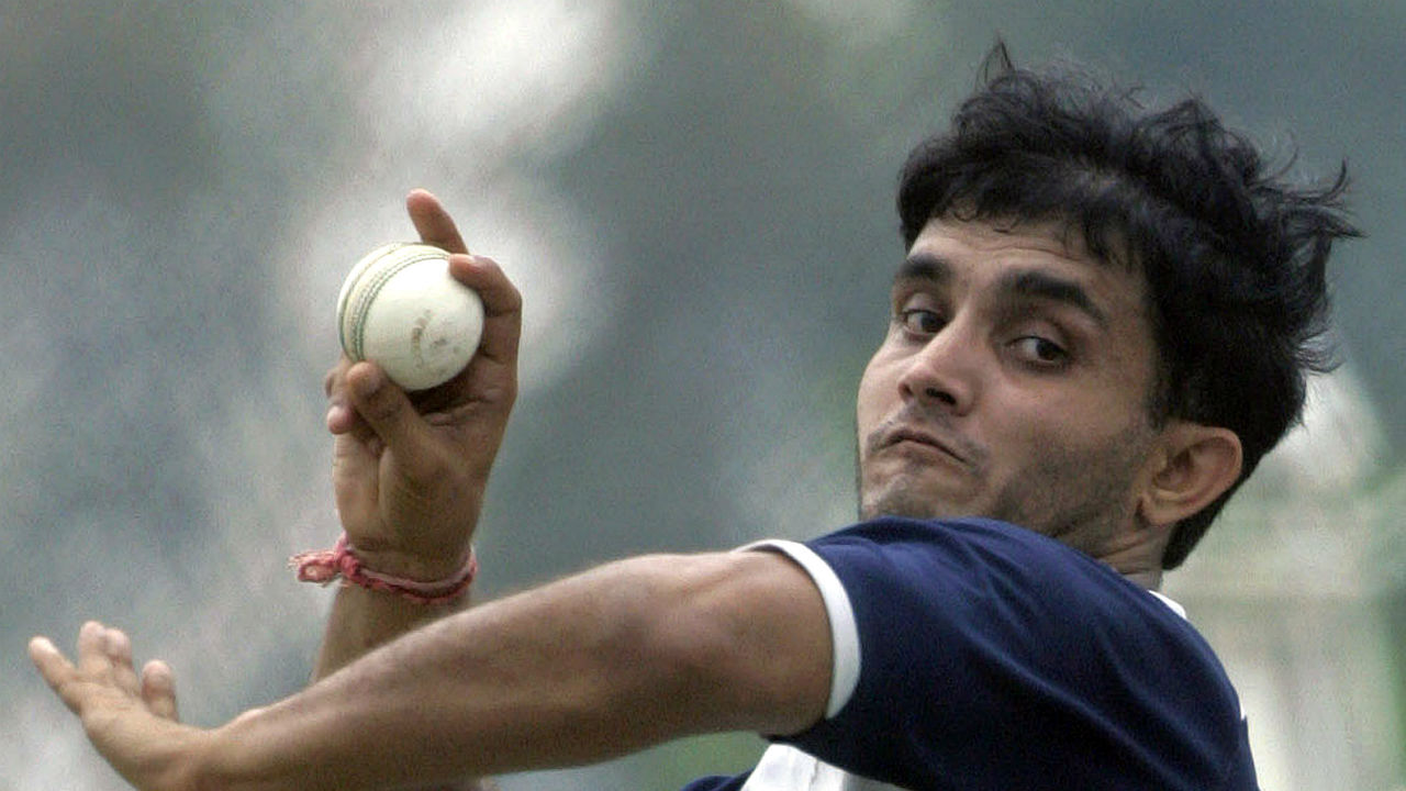 Sourav Ganguly holds the record for the best bowling performance for India against Pakistan. Ganguly bowled a magical spell of 10-3-16-5 to help India win the match by 34 runs. (Image: Reuters)