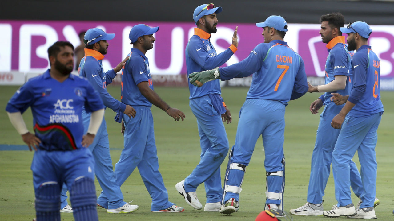 Shahzad's inning of 124 runs finally came to an end when the batsman holed a Kedar Jadhav delivery to Dinesh Karthik.At fall of Shahzad's wicket Afghanistan's scorecard read 180/6. (Image: AP)