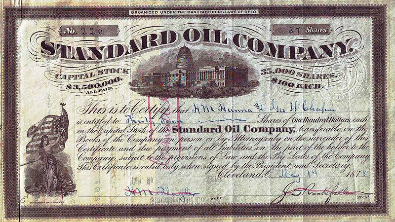 Standard Oil Company | Country: United States | Valuation: $1 trillion | Year: Early 1900s (Image: Wikimedia Commons)