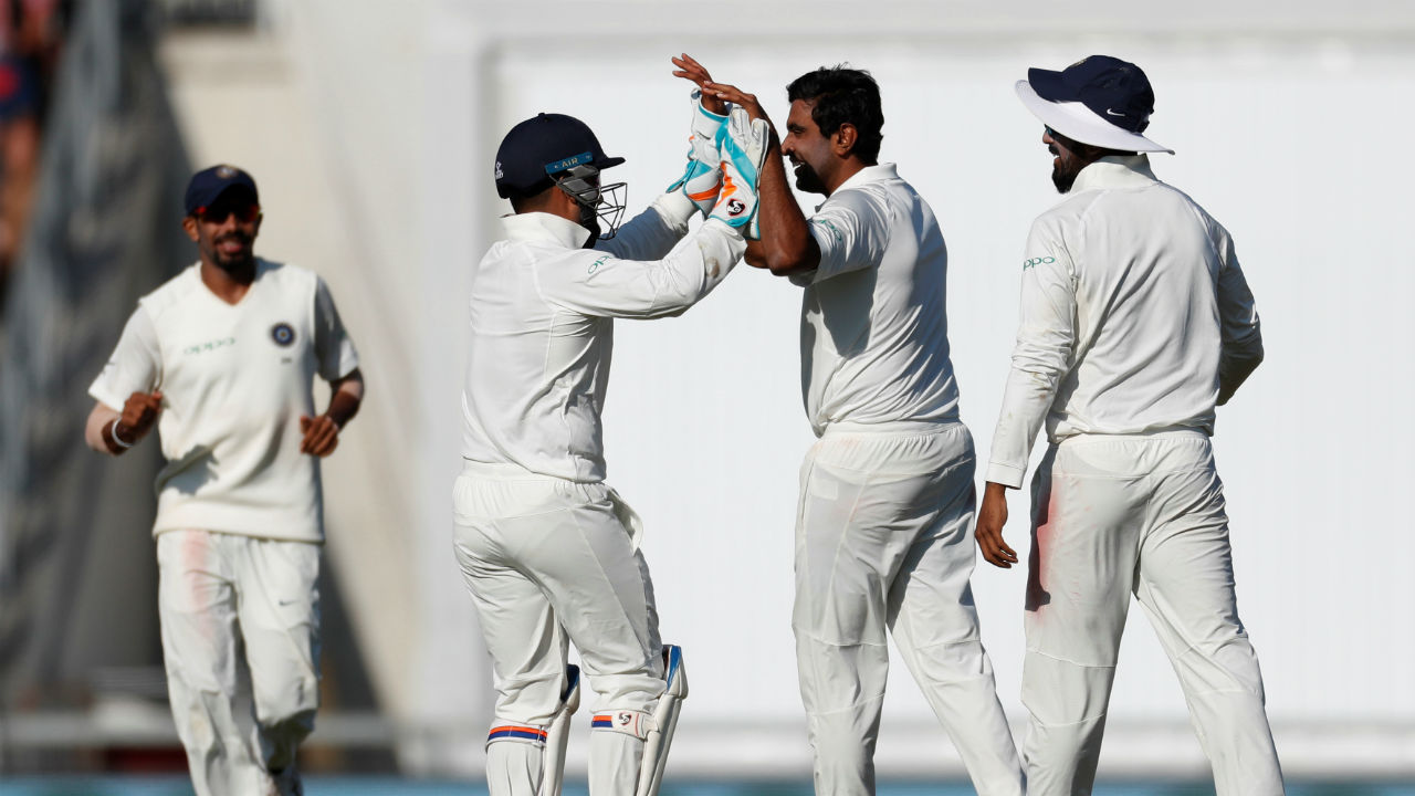 Ashwin finally dismissed Stokes. The left-handed batsman edged a delivery by the off-spinner to Ajinkya Rahane at first slip. (Image - Reuters)