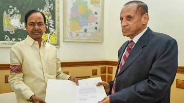 Telangana CM hosts farewell for outgoing governor Narasimhan