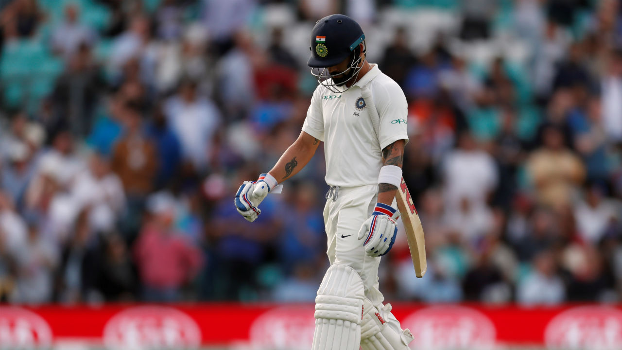 More calamity struck India as skipper Virat Kohli got out on a golden duck in the very next over. Stuart Broad got Kohli to edge an away going delivery which England wicketkeeper Jonny Bairstow pouched easily. At the fall of Kohli's wicket India's score read 2/3 after 3.2 overs. (Image: Reuters)