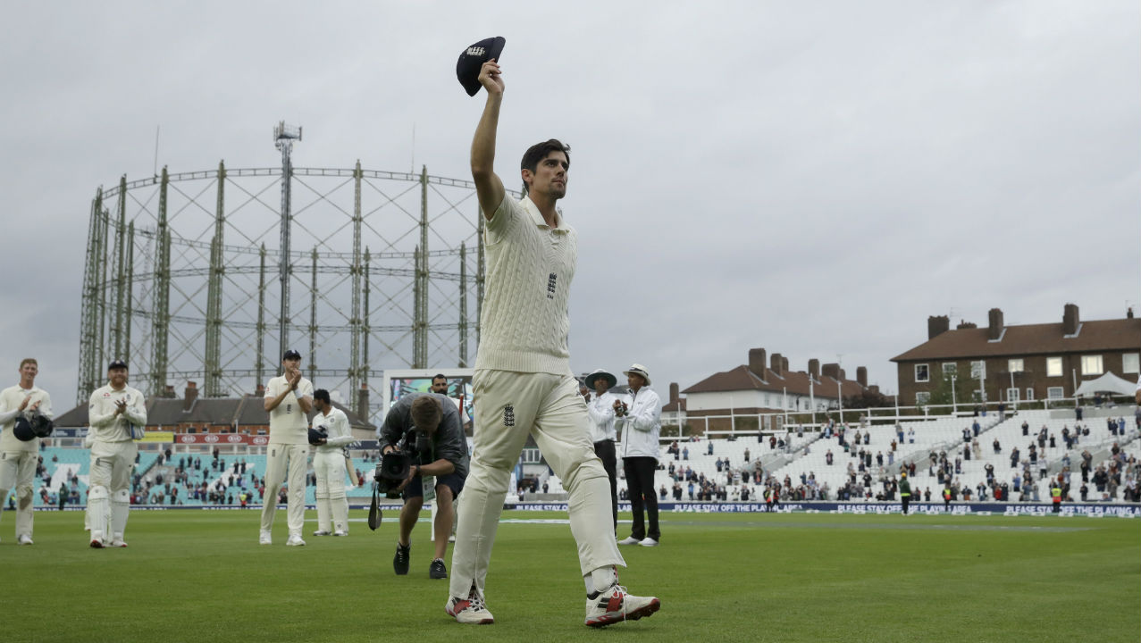 For his scores of 71 in the first innings, and 147 in the second innings, retiring Alastair Cook was adjudged Man of the Match. (Image: AP)