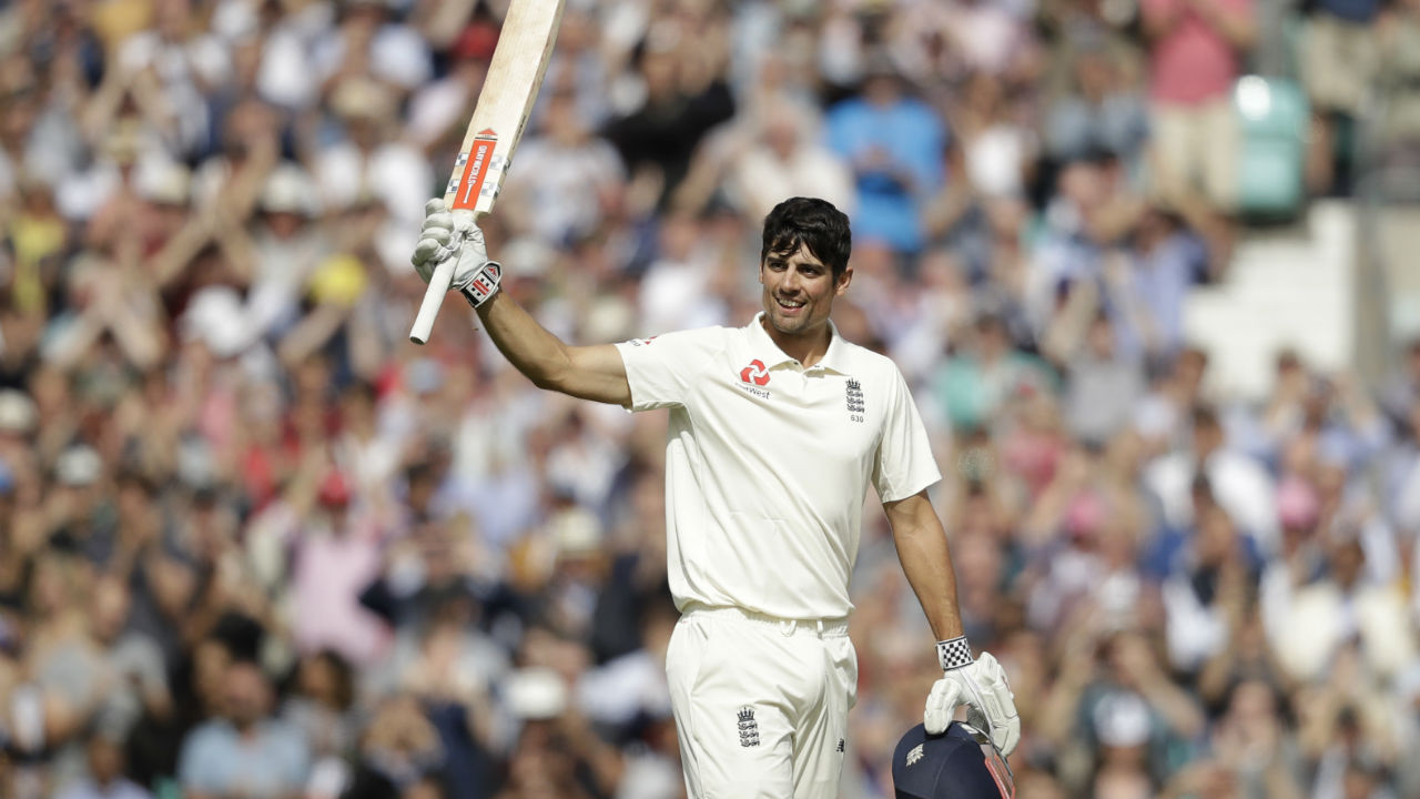 Alastair Cook continued at the crease on Day 4 and soon completed his century. Cook, who began his Test career with a century on debut against India, made sure he signs off with another century against the same opposition. During his innings he also went past Kumar Sangakkara to claim the fifth spot on the leading run scorers list in Test cricket. (Image: AP)