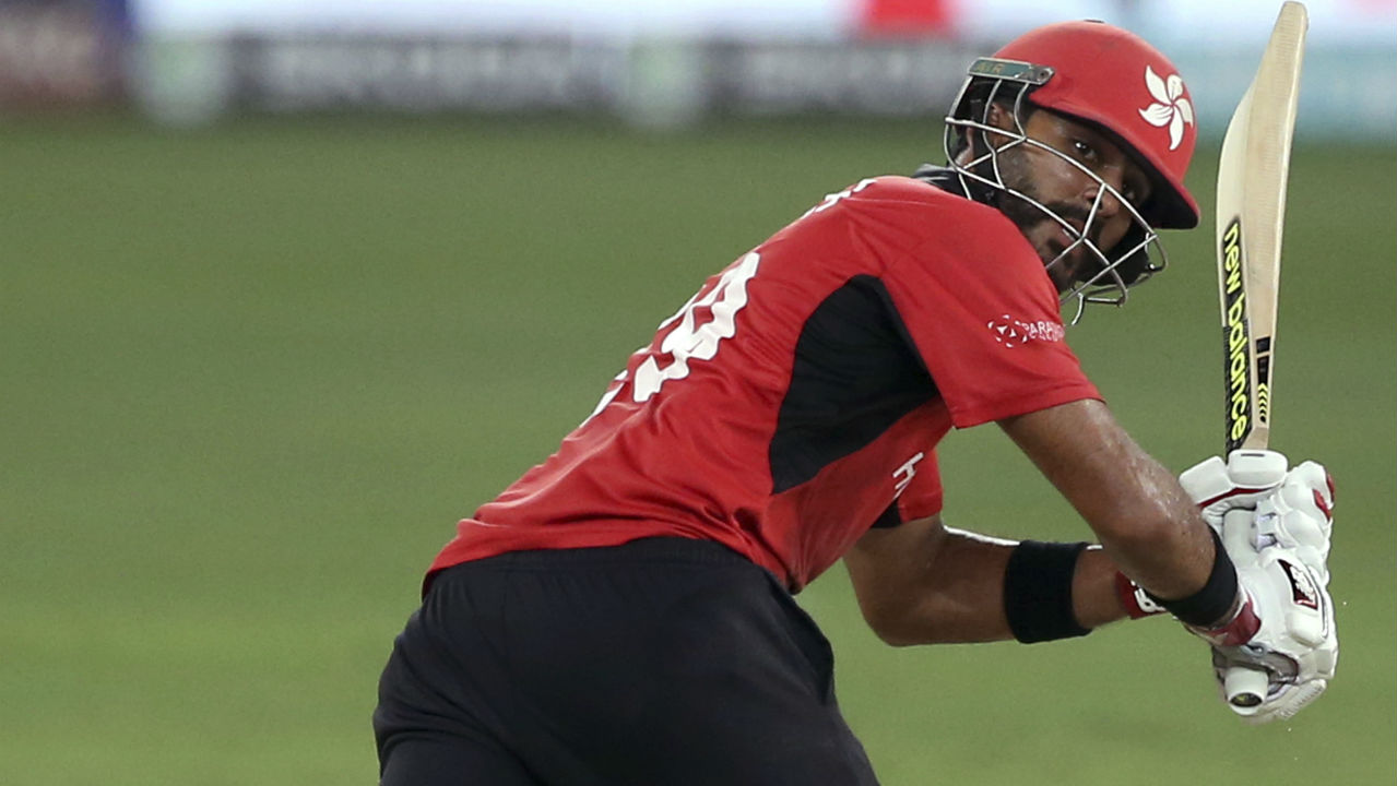 Anshuman Khan was slower in reaching his fifty as he reached the milestone in the 29th over from 75 deliveries. Anshuman Khan and Nizakat Khan went on to stitch together a 174-run partnership which is Hong Kong's highest ever opening stand. (Image: AP)
