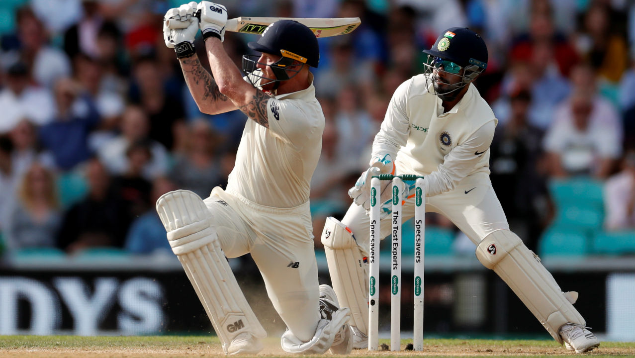 Ben Stokes played some attractive shots during his 37-run stay but was finally dismissed by Jadeja when he went for a powerful flat hit towards the cow corner where K L Rahul took his 14th catch of the tour. After Stokes, Sam Curran was the last England batsman to be dismissed as Root declared England innings on 423/8. The declaration meant that India were set a target of 464 runs to win the Test. (Image: Reuters)