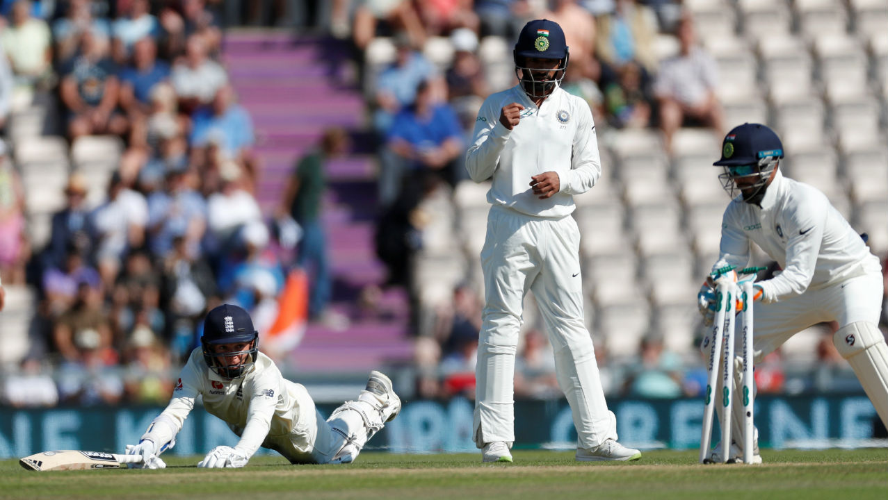 Sam Curran was then run-out by birthday boy Ishant Sharma. With Curran's wicket England's second innings came to an end at the score of 271, leaving India with a target of 245 runs to win the Test. (Image - Reuters)