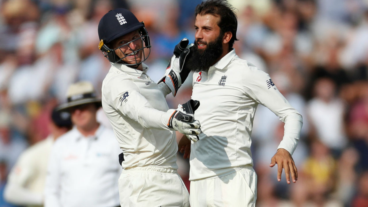 Rishabh Pant stepped out with attacking intent as he looked to go after the English bowlers but he soon holed out to Cook from a Moeen Ali delivery. The English spinner then scalped Rahane, catching him LBW with an absolutely unplayable delivery before later also accounting for Mohammed Shami. (Image – Reuters)