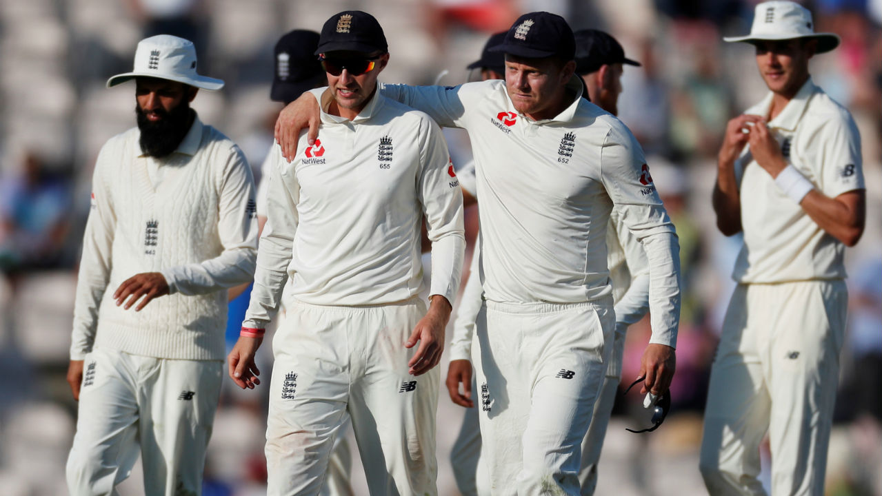 Ravichandran Ashwin provided some resistance as he batted with the tail scoring 25 runs from 36 deliveries before Sam Curran came back into the attack and caught him LBW with a delivery that caught Ashwin on his heel. England won the match by 60 runs taking an unassailable 3-1 lead in the series. (Image – Reuters)