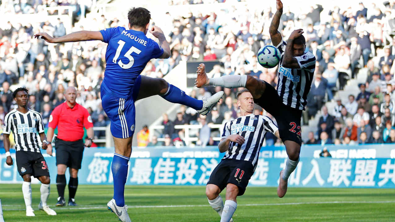 Newcastle United 0 – 2 Leicester City | Newcastle's win-less start to the season continued as Leicester moved up to 7th spot on the EPL table. The Foxes were awarded a penalty in the 30th minute when DeAndre Yedlin handled a Harry Maguire's shot. Jamie Vardy stepped up to convert from the spot. Maguire then doubled the lead with a towering header in the 73rd minute. (Image: Reuters)