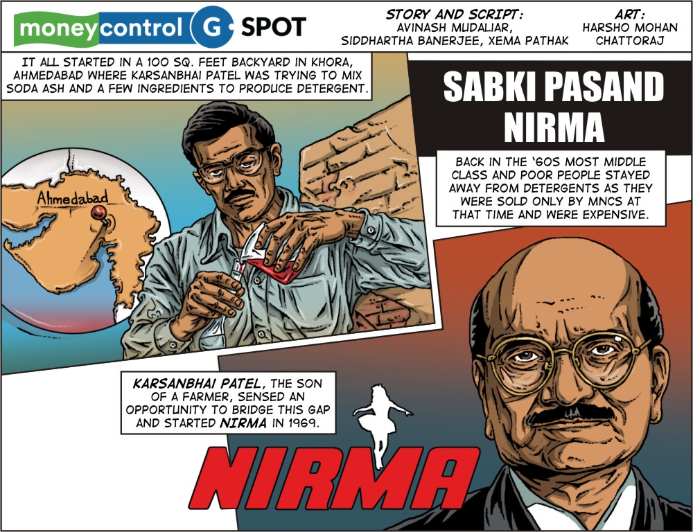Webcomic: How Karsanbhai Patel created a low-cost detergent and made Nirma a household name