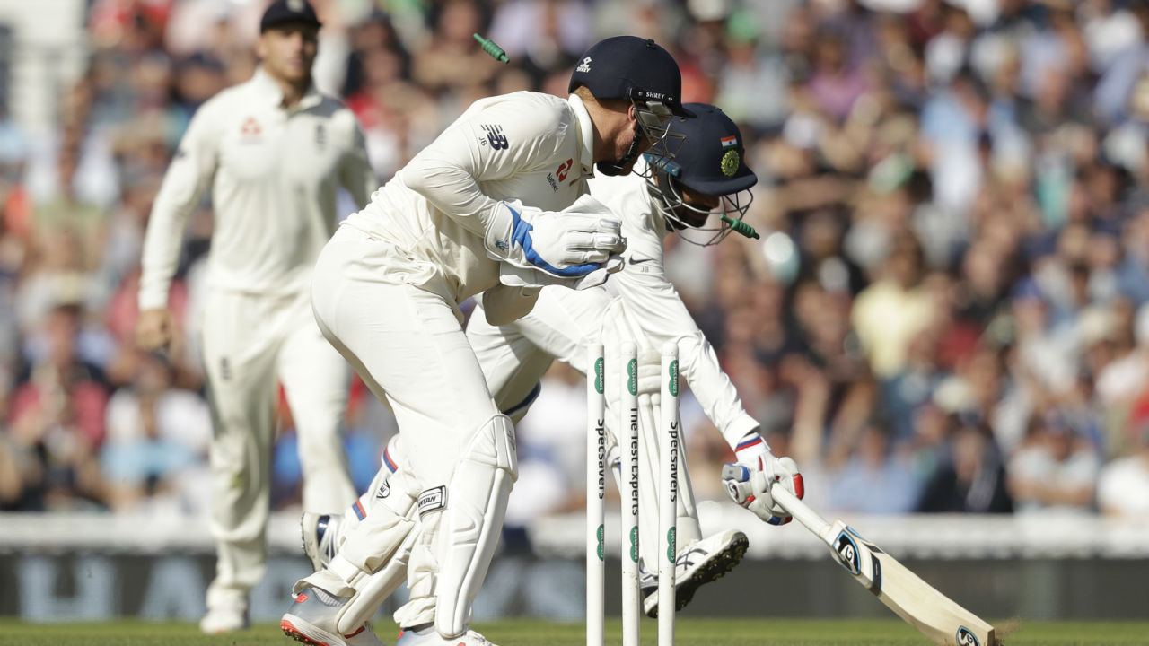 Mohammed Shami did not last long at the crease as he holed out to Broad at long on when he was looking to dispatch Adil Rashid's googly for a six in the 86th over. Bumrah was the last man and he stitched together a vital 32-run partnership with Jadeja before getting run out in the 95th over. India finished with 292 runs on the board, trailing England by 40 runs. (Image: AP)