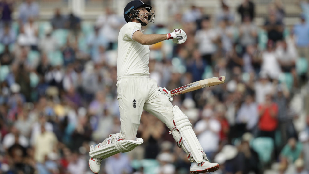 England captain Joe Root soon followed Cook and completed his century too. This was his 14th Test century and he completed it in 151 deliveries. Cook and Root put together a mammoth 259-run partnership which strengthened England's grip on the match. (Image: AP)