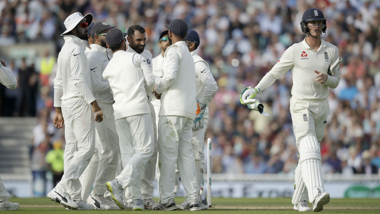 Mohammed Shami gave India a perfect start when he castled Keaton Jennings at the start of the 3rd session. He sent down a good length delivery which Jennings was looking to leave for the keeper but the ball nipped in sharply to hit the off stump. (Image: AP)