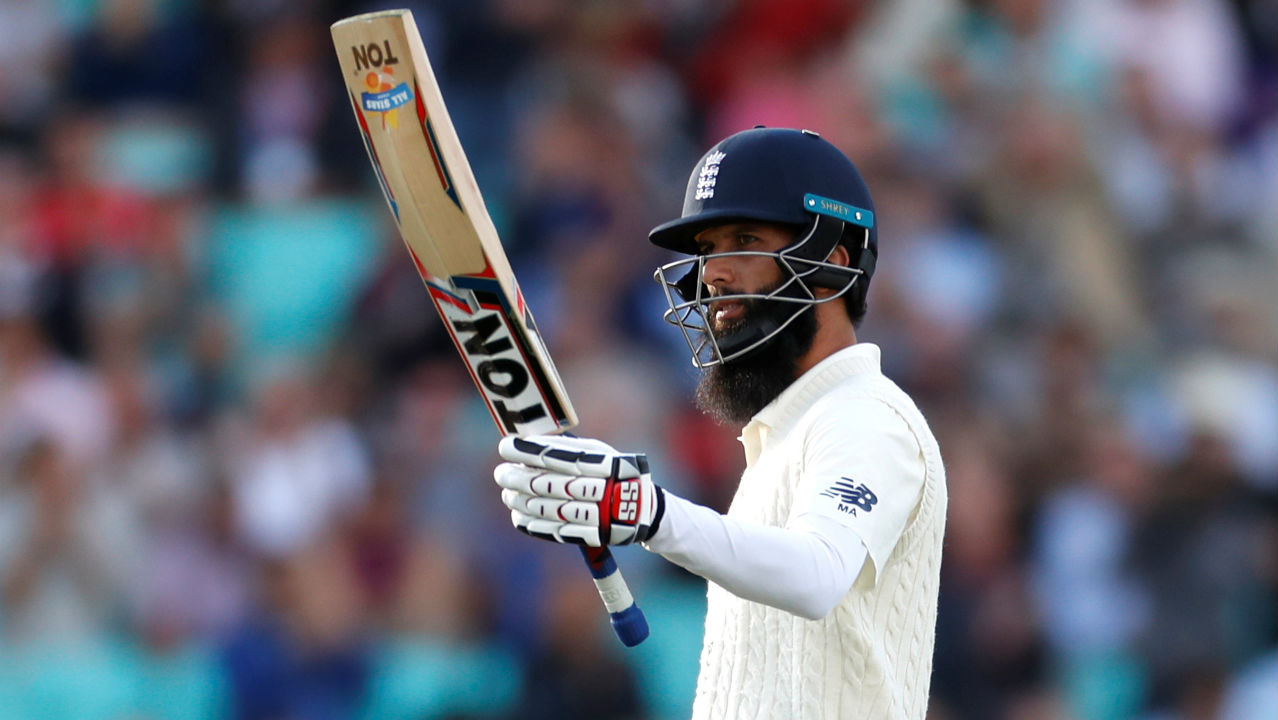 Moeen Ali completed his slowest ever Test fifty when he reached the landmark in the 81st over after facing 167 balls. He was only brought back to the side in the previous match and moved up to the number three position in the second innings at The Rose Bowl. (Image – Reuters)