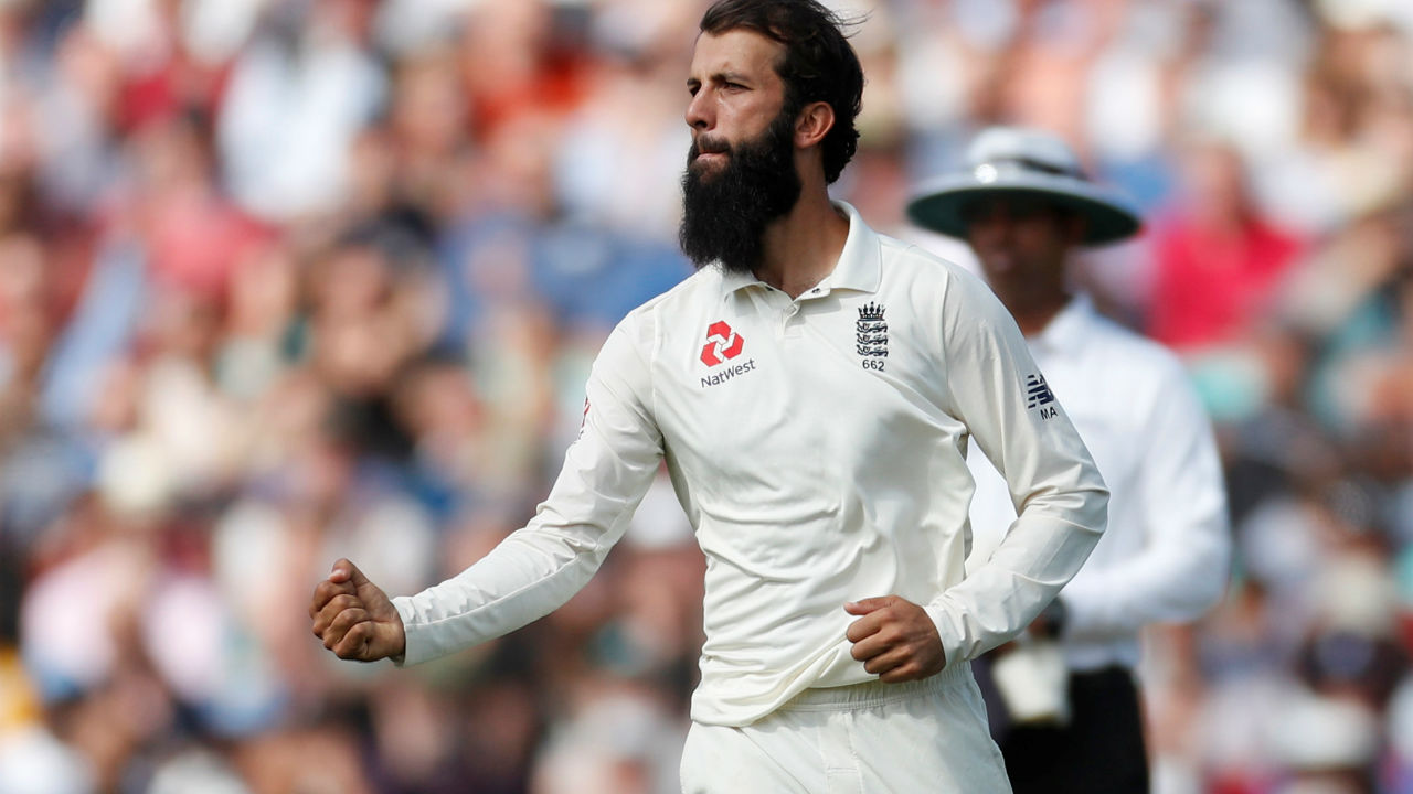 Vihari's innings did not last long after getting his fifty as Moeen Ali got him caught behind in the 77th over on 56 runs. Ali continued his spell after Tea and got Ishant Sharma dismissed in similar fashion in the 83rd over to leave India reeling at 249/8. (Image: Reuters)