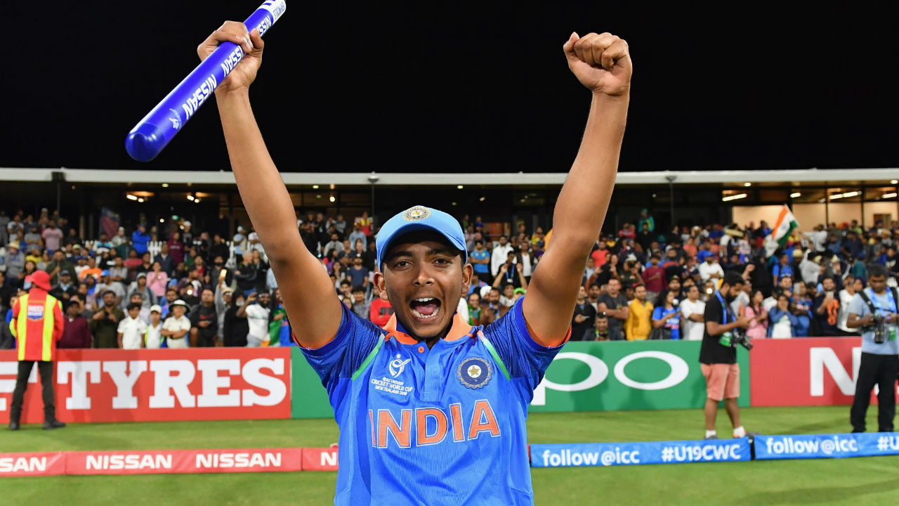 Prithvi Shaw | The 18-year old right handed batsman captained the team which lifted the 2018 Under-19 World Cup in New Zealand. He already has seven first-class centuries to his name and averages 56.72 after 14 matches. Prithvi was even called up to the Test squad for India's tour of England this year but didn't get an opportunity to make his debut. His batting stance and impeccable technique have already drawn comparisons with Sachin Tendulkar. (Image: icc-cricket.com)
