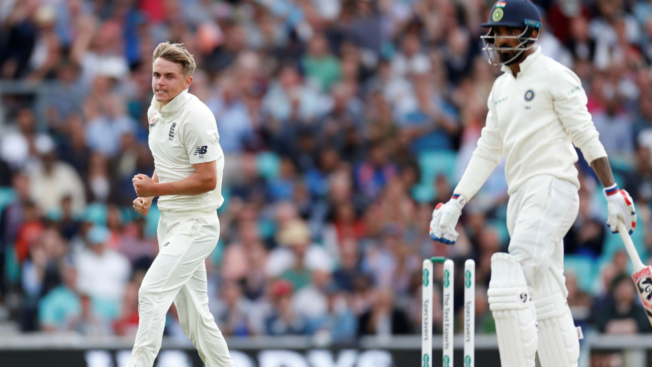 KL Rahul was next to walk back to the dressing room as Sam Curran bowled him out with an absolute Jaffa. Curran pitched the ball on the middle stump and Rahul looked set to defend it before the ball moved away off the seam and hit the top of the off stump. At this stage India were down to 70/2. (Image: Reuters)
