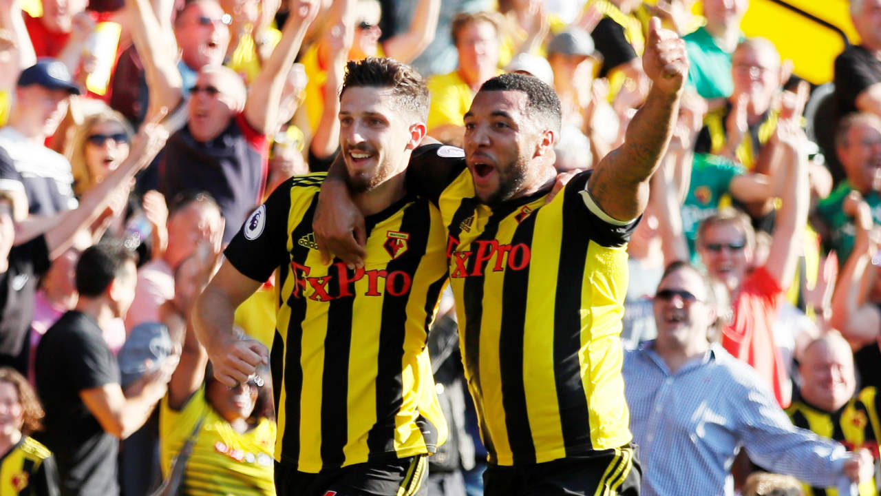 Watford 2 – 1 Tottenham | The Hornets made it four wins in a row when they came from behind to beat Tottenham at Vicarage Road. Spurs got the lead in the 53rd minute when Abdoulaye Doucoure turned Lucas Moura's cross into his own net. Watford however stepped up the tempo and drew level when Troy Deeney held his ground to head home from a free kick in the 69th minute. Craig Cathcart then got the winner in the 76th minute when he headed home from a corner to hand Tottenham their first defeat of the season. (Image - Reuters)