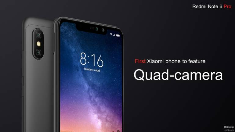 Xiaomi Redmi Note 6 Pro with four cameras, notch display launched: Price,  specs and features