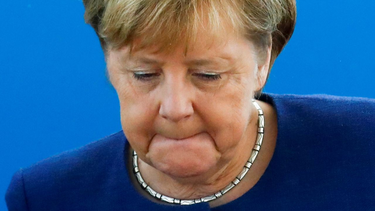 German Chancellor, Angela Merkel reacts as she attends a Christian Democratic Union (CDU) leadership meeting in Berlin. (Image source: Reuters)