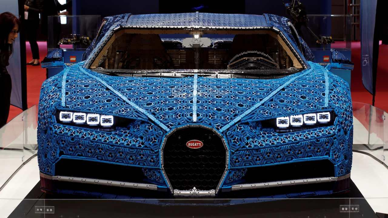 Bugatti Chiron made out of Lego Technic blocks (Image: Reuters)