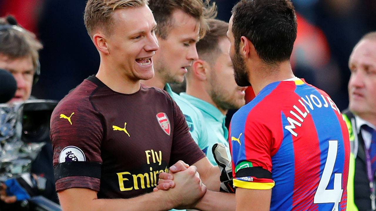 Crystal Palace 2 - 2 Arsenal | Crystal Palace and Arsenal shared spoils in a thrilling and controversial encounter at Selhurst Park. Two Luka Milivojevic penalties (46' and 83') either side of Granit Xhaka (51') and Pierre-Emerick Aubameyang (56') goals meant Arsenal's 11-match winning run came to an end. Palace were given a penalty in the final minute of the first half, as Shakodran Mustafi brought down Cheikhou Kouyate with a reckless sliding challenge. Arsenal gave away another penalty when Xhaka fouled Zaha in the 82nd minute. Milivojevic converted both the chances from 12 yards with aplomb to give home side a vital point. (Image: Reuters)