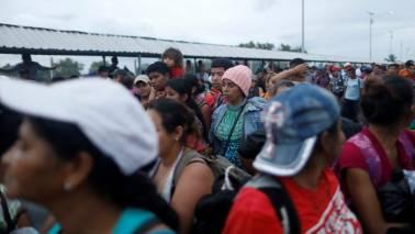 Migrant caravan halted on Mexico-Guatemala border, pressure to turn back mounts