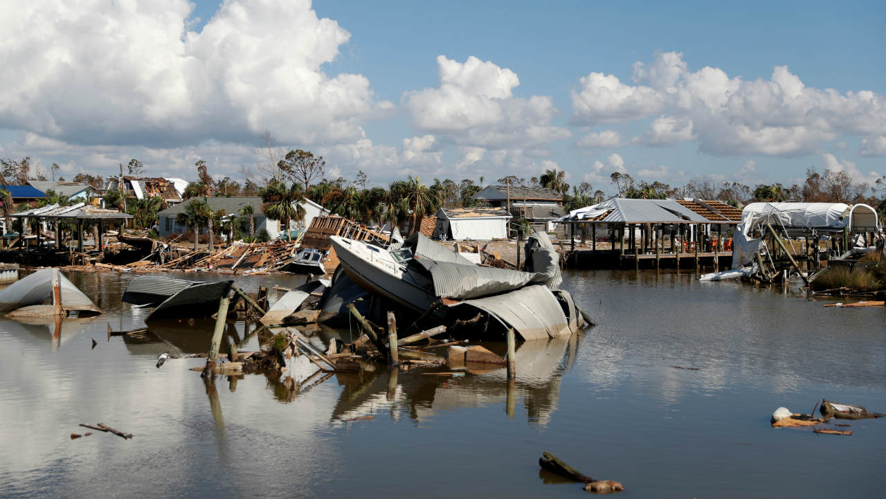 Damage caused by Hurricane Michael is seen in Mexico Beach, Florida, US. (Image: Reuters)