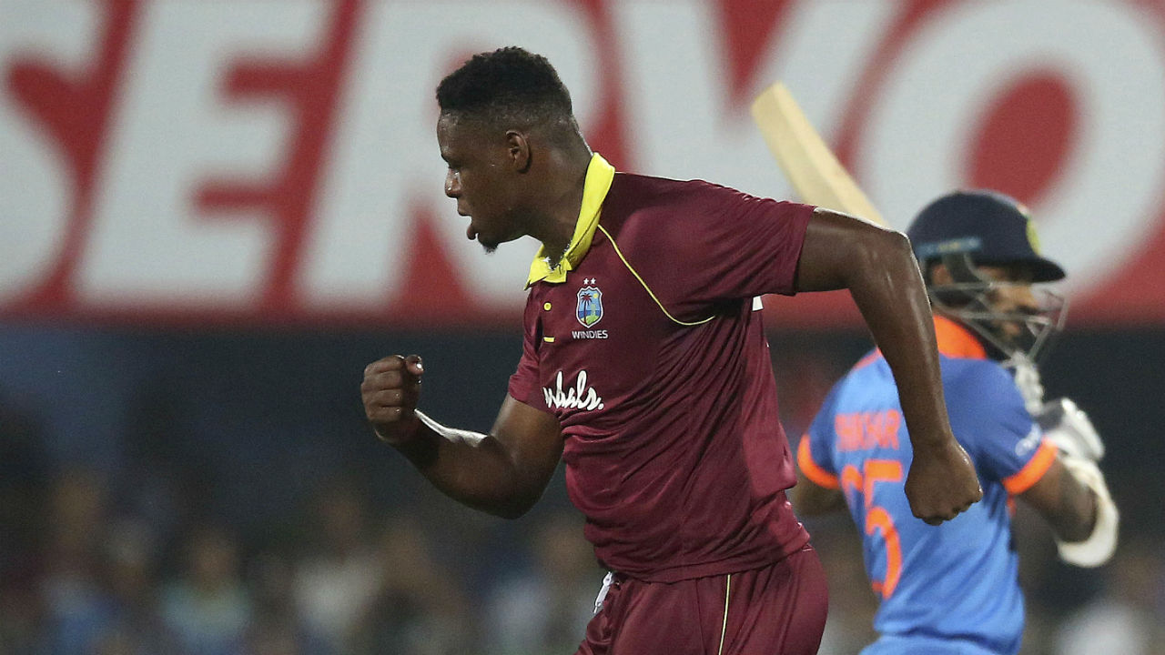 With a healthy total of 322 on board debutant Oshane Thomas gave the Calypsos a great start when he clean bowled Indian opener Shikhar Dhawan in the second over of Indian innings. (Image: AP)