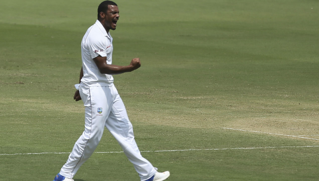 Shannon Gabriel sent Cheteshwar Pujara back in the very next over. The right-hand batsman played a lose shot on an away going delivery to give the wicket-keeper an easy catch. (Image: AP)