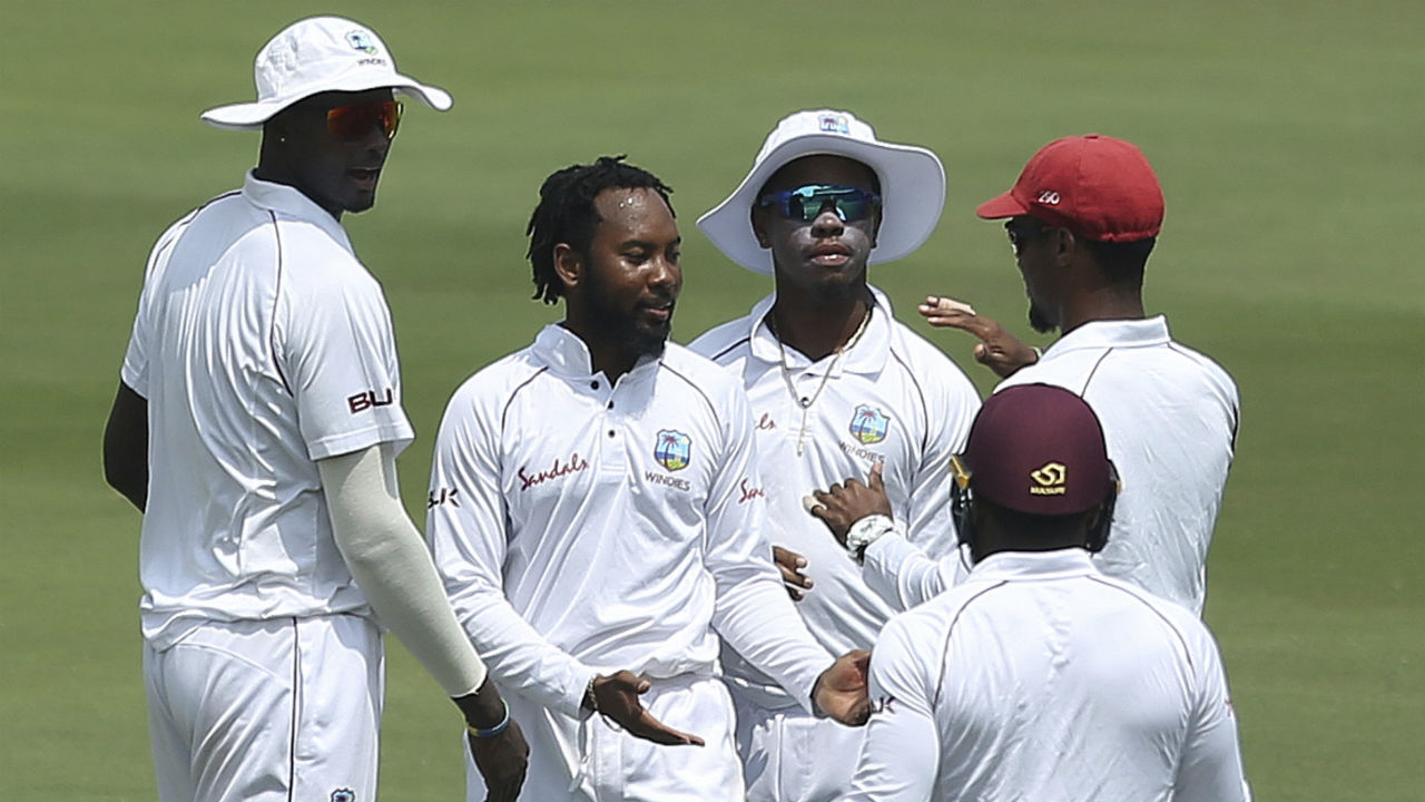 Shortly after Lunch, Windies spinner Jomel Warrican gave his team a major relief as he sent back the dangerous looking Shaw on 70. Shaw mistimed his drive to give Shimron Hetmyer an easy catch. (Image: AP)