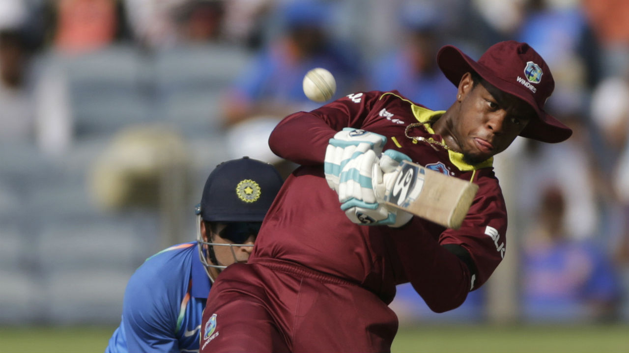 In form batsman Shimron Hetmyer hit a few lusty blows during his stay in the middle. The young batsman hit three sixes and two boundaries in his innings of 37. (Image: AP)