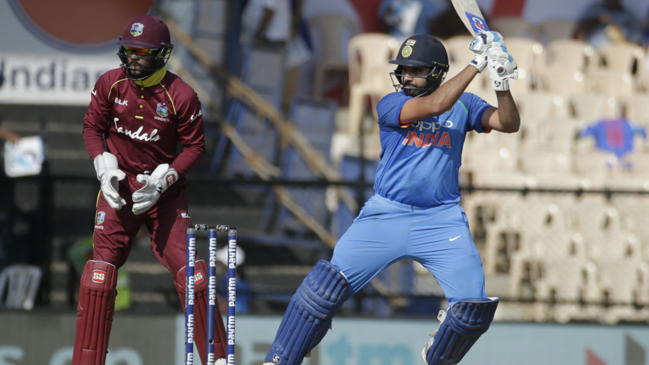 After the loss of Kohli's wicket, Rohit Sharma accelerated in the middle overs bringing back momentum in the Indian innings. He got good support from Ambati Rayudu from the other end. Together the batsmen stitched together a 211-run partnership for the 4th wicket. (Image: AP)