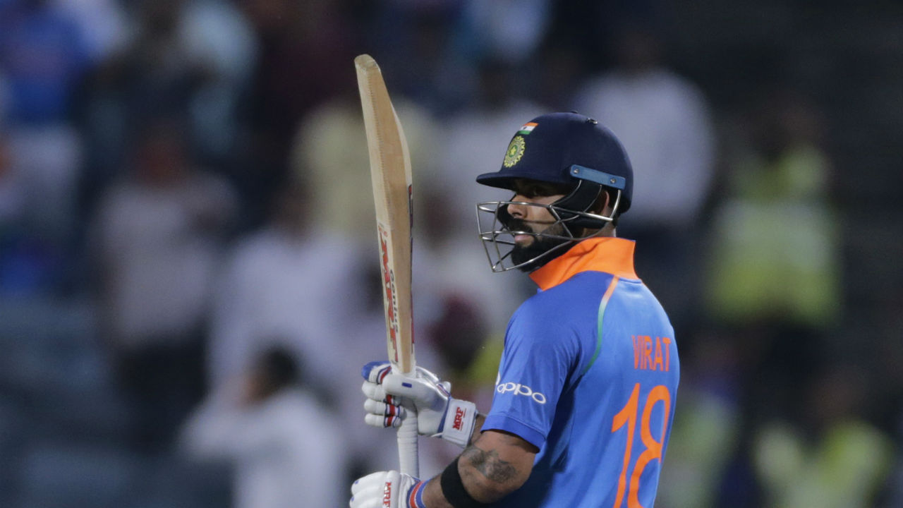 Kohli built on his superb form and completed his third consecutive century in the series. He became the first Indian to register three consecutive centuries in ODIs, thus writing yet another record against his name. (Image: AP)